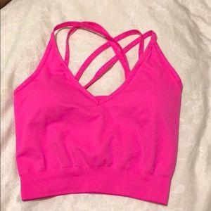 TALA Neon pink sports bra/top